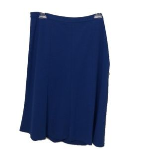 Talbots Knee-Length Blue Skirt Size 10